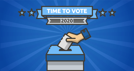 voting banner image of a ballot box