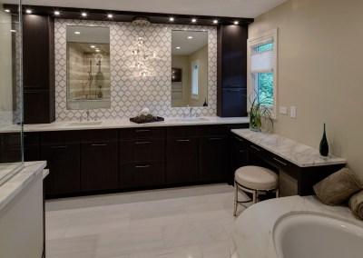 Transitional Oak Brook Master Bath Renovation