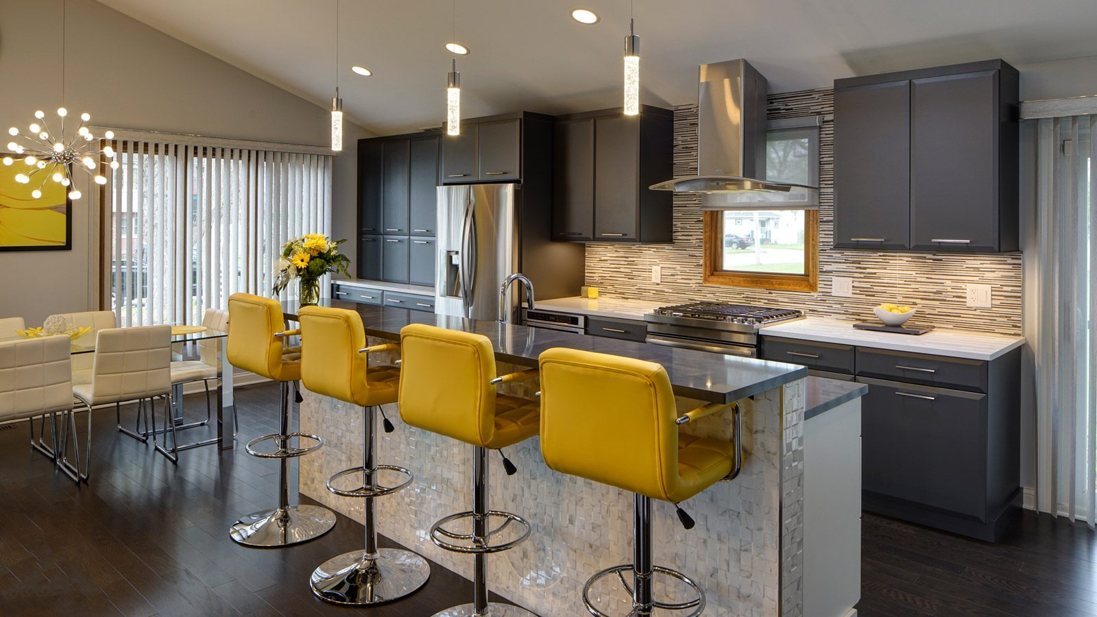Open Contemporary South Suburban Kitchen Remodel Drury