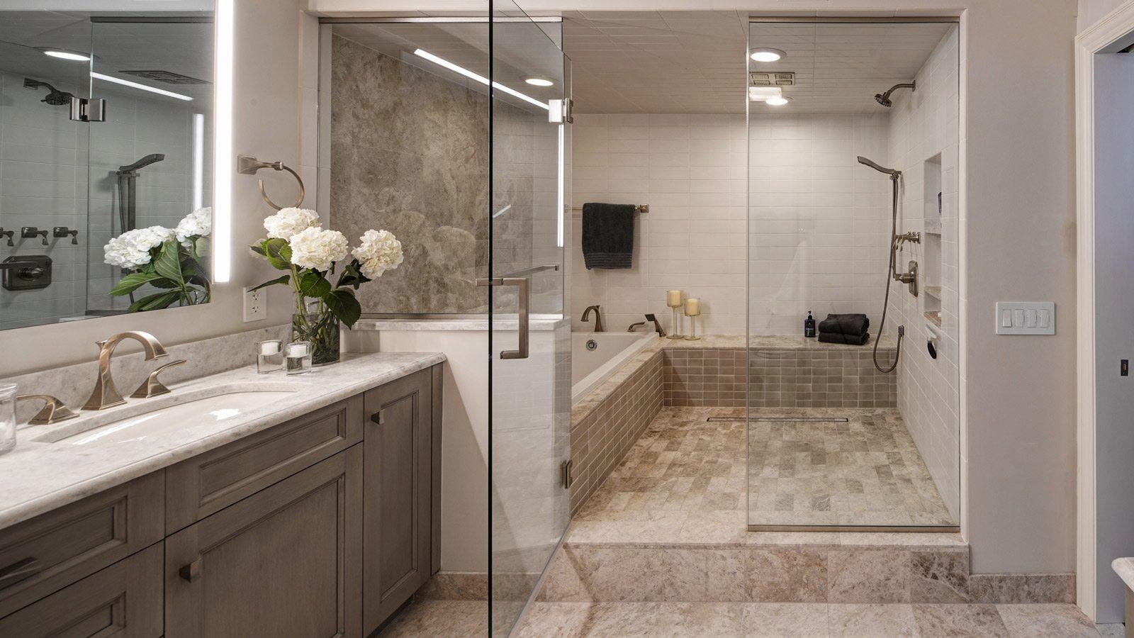 Chicago Condo Master Bath Renovation - Drury Design on Master Bath Remodel Ideas  id=50596