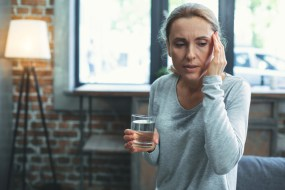 woman with menopause and dry skin