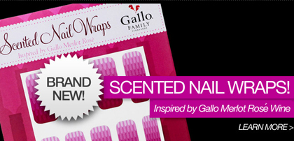 gallo rose nail wraps Scent of a woman    and a wine    through her nail wraps