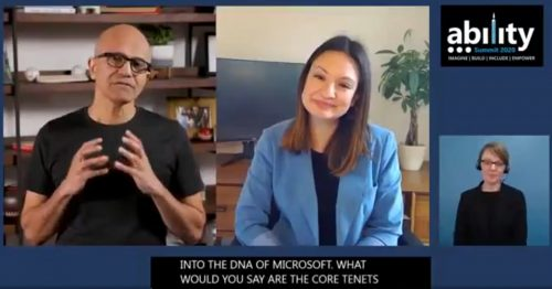 Microsoft Ability Summit 2020- Satya Nadella Interview
