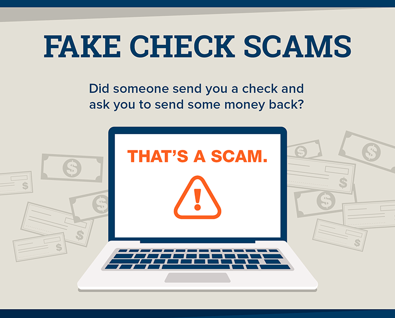 college students fake check scams infographic 2020