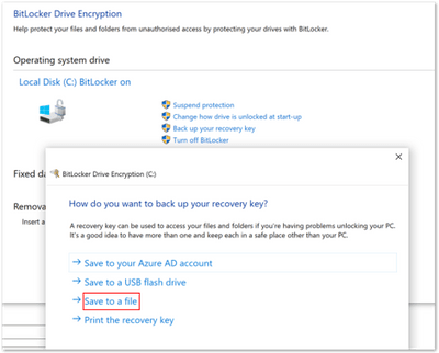 BitLocker Drive Encryption window