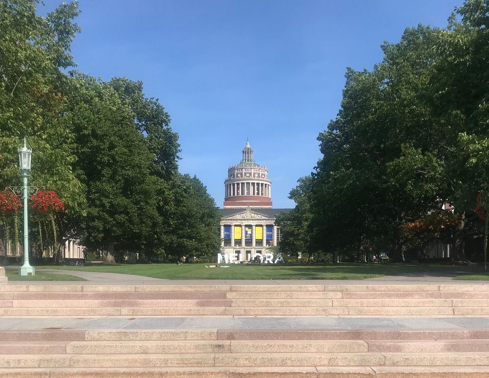 University of Rochester's River Campus in Fall 2019