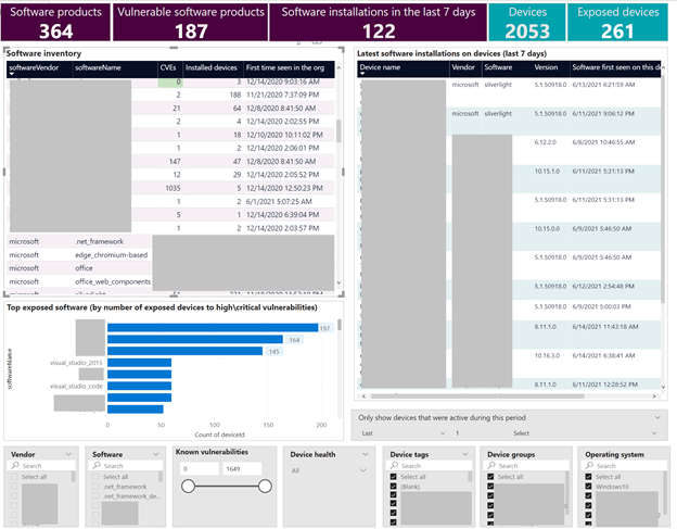 Image 4: Software inventory report