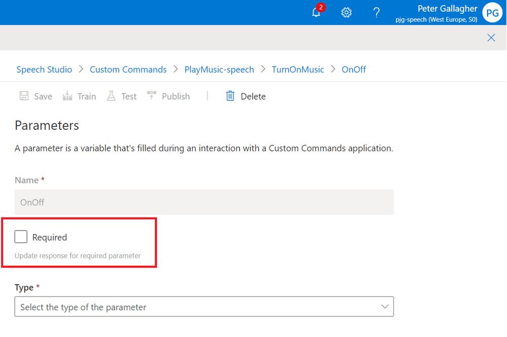 SpeechStudio-RequiredParameter
