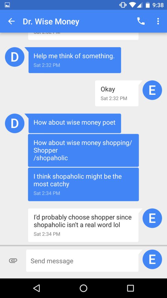 Wise Money Shopper