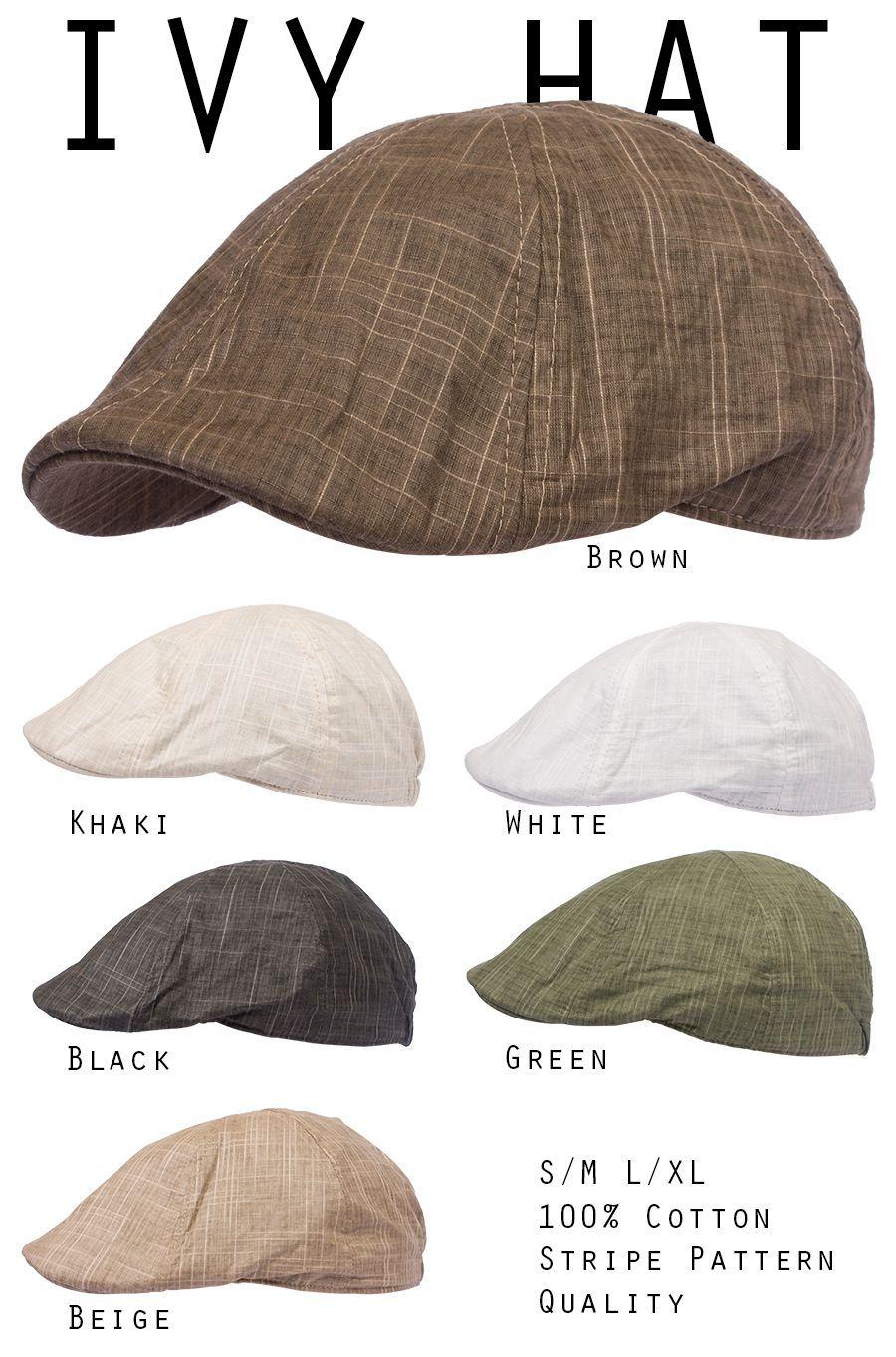 Ivy Hat Gatsby Flat Newsboy Duckbill Cotton Cap Men