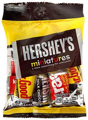 Hershey's Chocolates Miniatures, 150g