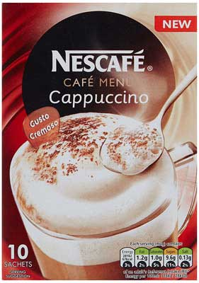 Nescafe Cafe Menu Cappucino Original, 17g (Pack of 10)