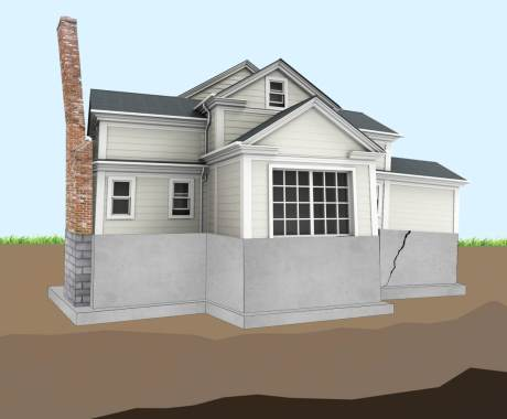 Dry conditions cause settling Foundations