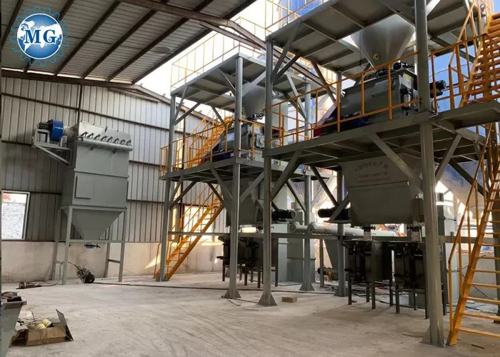 ceramic tile adhesive dry mix mortar production line with environmental protection