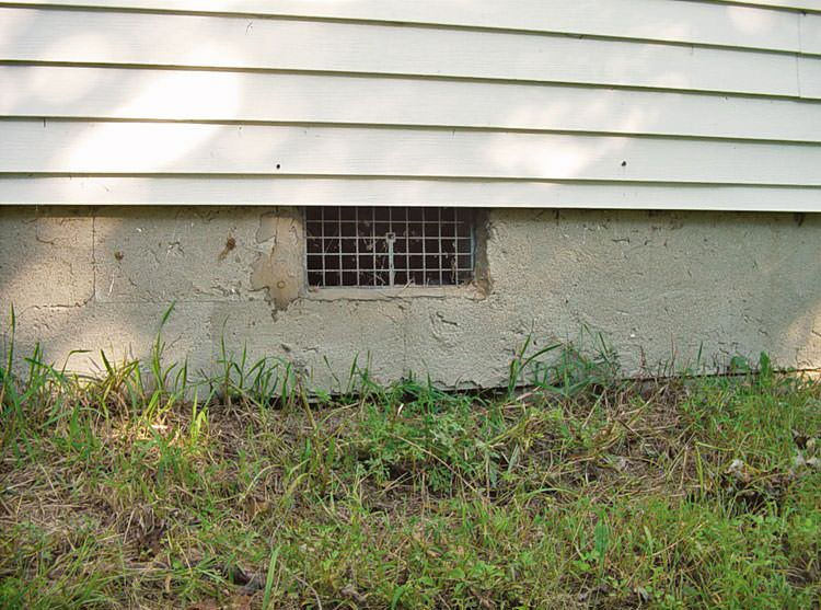 troublesome open vented crawl space