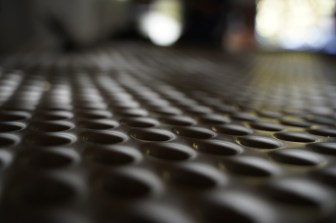 Drainage matting close up shot