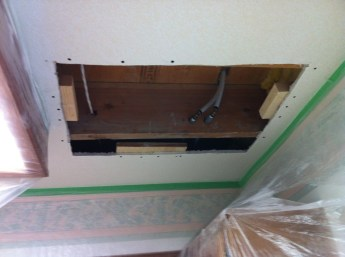 before drywall texture repair