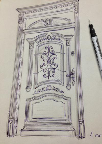 drzwi-zewnetrzne-zdobione-projekt