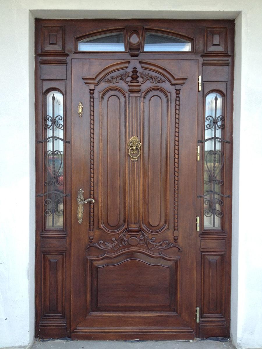 Drzwi zewnętrzne dębowe na zamówienie