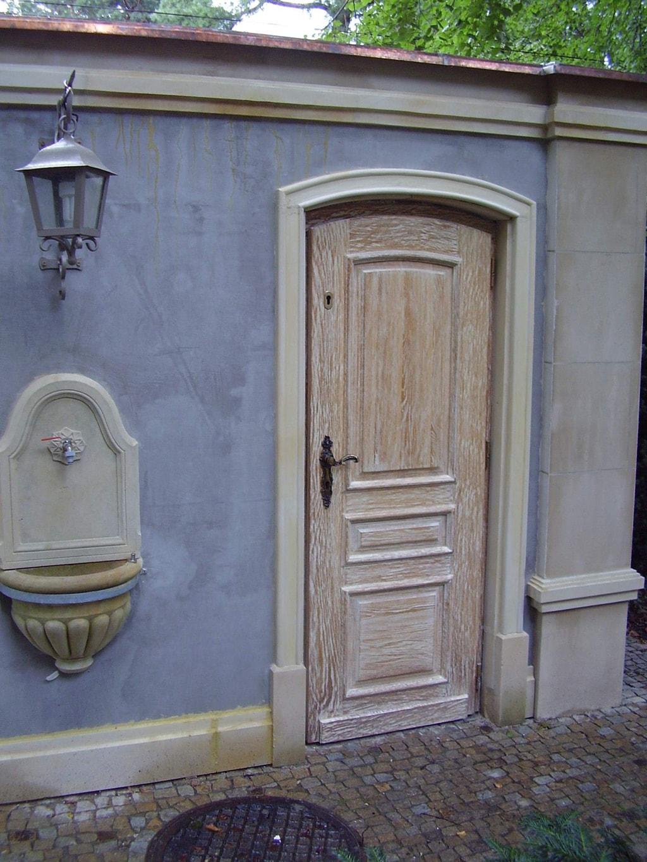 Drzwi zewnetrzne recznie wykonane piaskowane