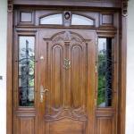 Drzwi zewnetrzne debowe recznie wykonane