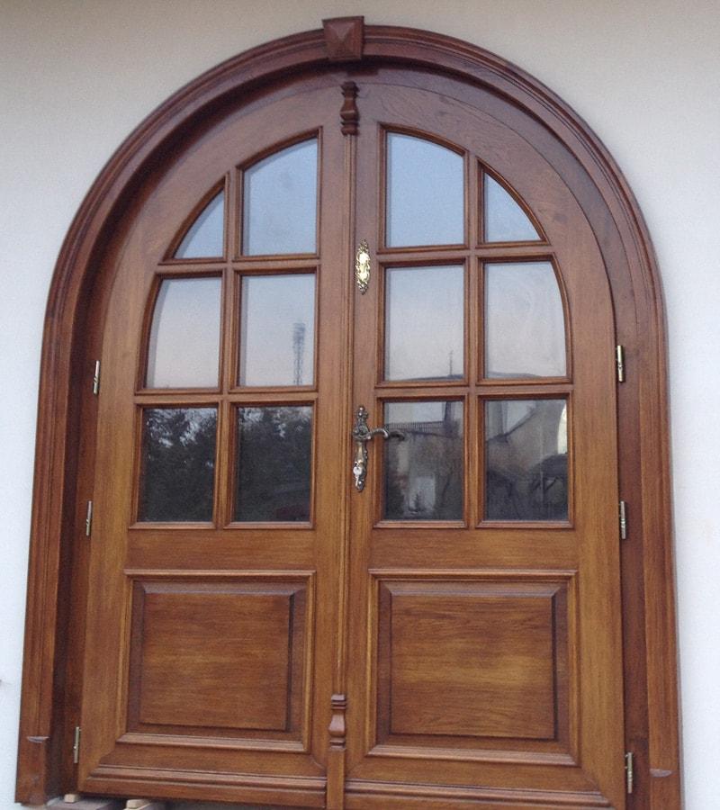 Drzwi frontowe dwuskrzydłowe