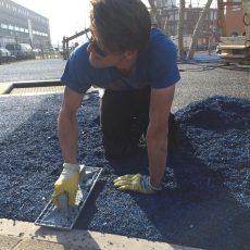 Valdempende EPDM vloer speelplaats Scheveningen