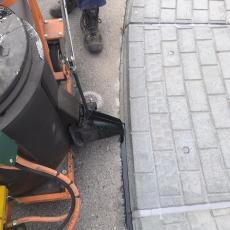 Bitumen afdichting rotonde te Zeewolde.