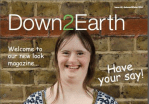 A cover of a Down2Earth Magazine issue showing Kate Powell, the editor of the magazine