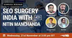 SEO Surgery with SEMrush