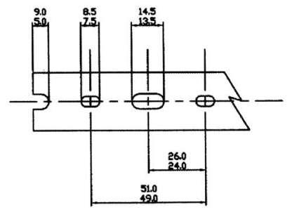 AN 8 PIECE BOX OF 1-1/2 X 3 GRAYHIGH DENSITY-NARROW FINGERS