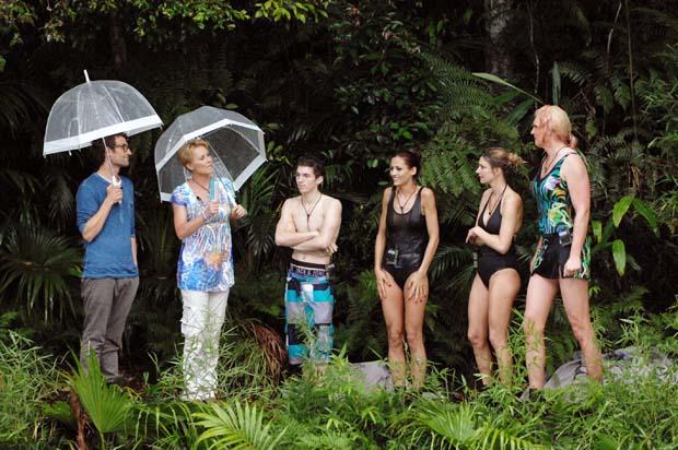 Dschungelprüfung HÄNGEPARTIE bei strömenden Regen