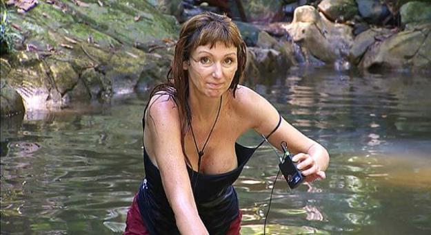 Hanka Rackwitz im Dschungel-Teich mit Zwangsstörung