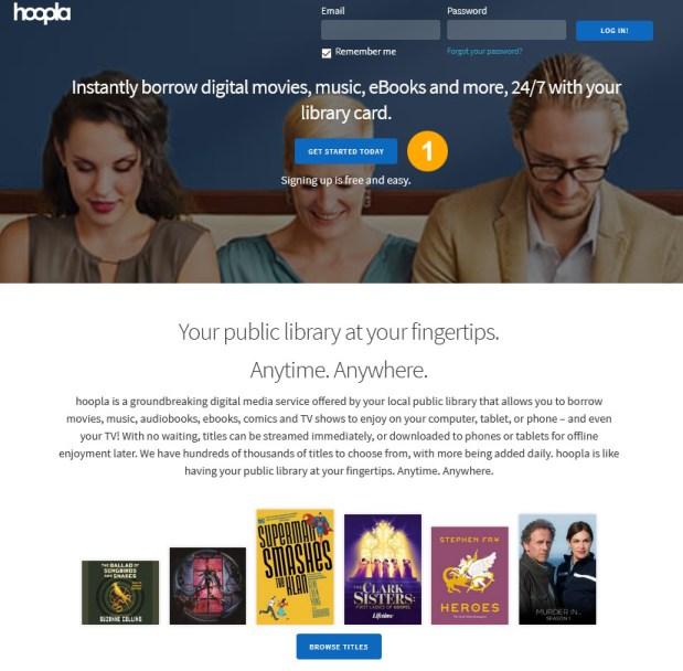 hoopla webpage