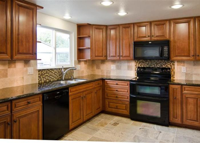 Vacaville Kitchen Remodel Contractor Marble Tile Back Splash