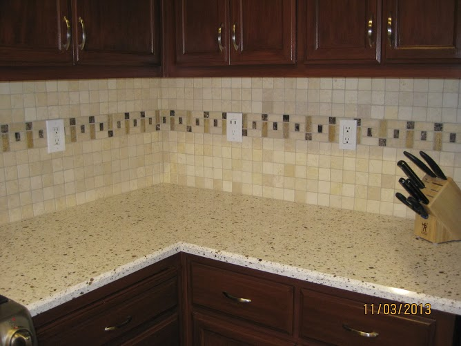 travertine back splash