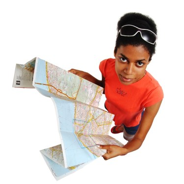 Image result for person with a road map