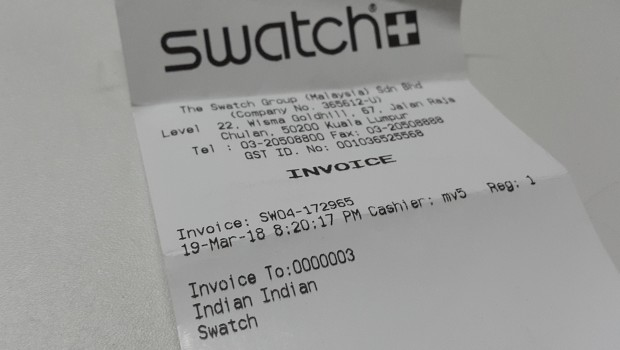 Swatch Malaysia Issued This Blatantly Racist Invoice to Me     Drive     JetSet