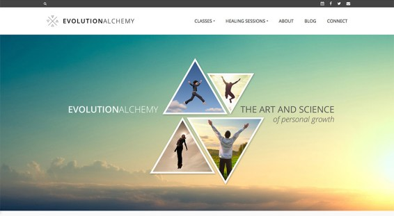 Website design, logo, branding, content writing // evolutionalchemy.com