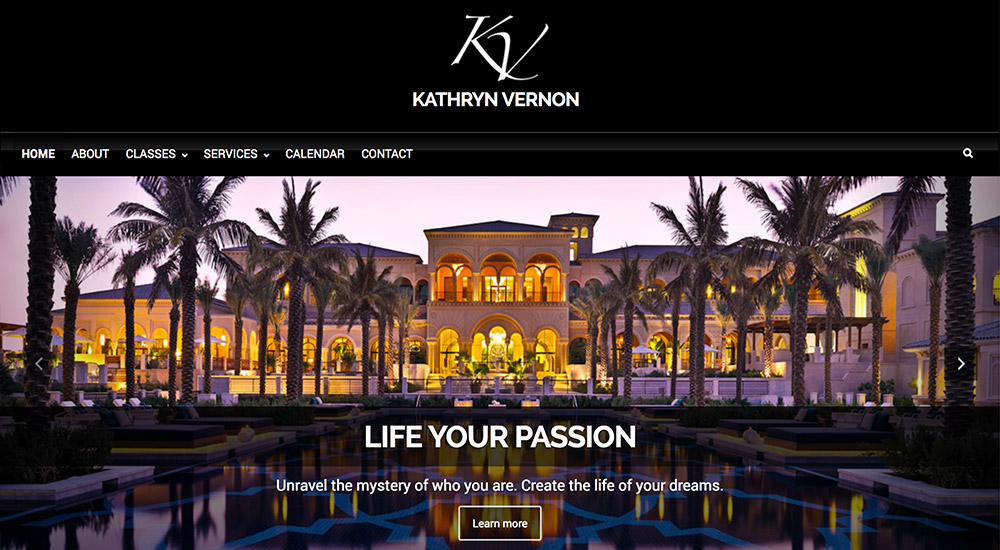 Website design, logo and branding // kathrynvernon.com