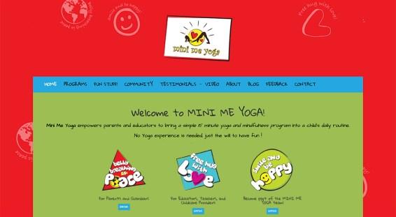 Website design, online store, membership site // minimeyoga.com
