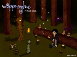 Promotional image for Apprentice digital comic book by Paracosmos.