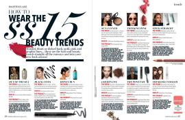 Layout and design for Beauty handbook for Marie Claire SA magazine. Published in their August 2016 edition