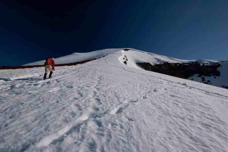 Climbing South Sister