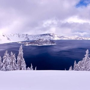 Frosting Crater Lake