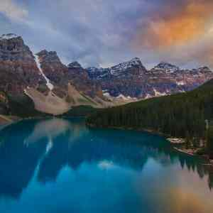 Lake Moraine Sunset