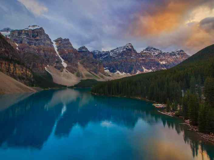 Lake Moraine Sunset