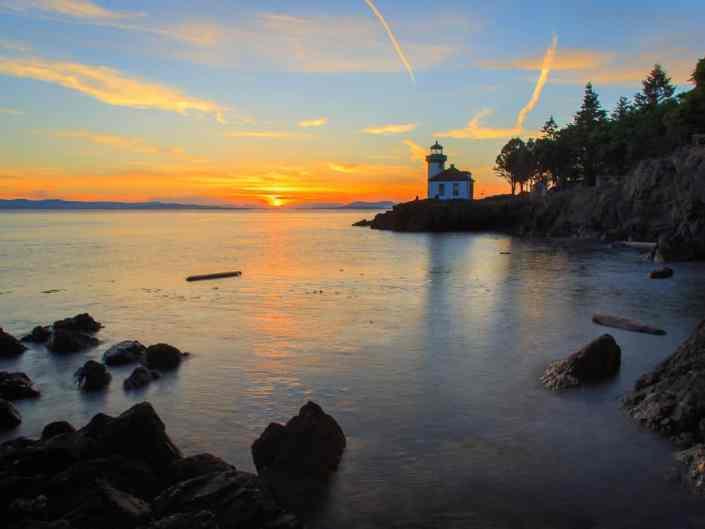 Lime Kiln Lighthouse Sunset