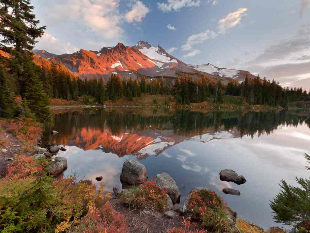 Mt Jefferson and Scout Lake