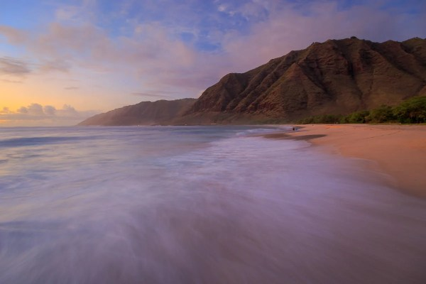 Makua Beach Afterglow